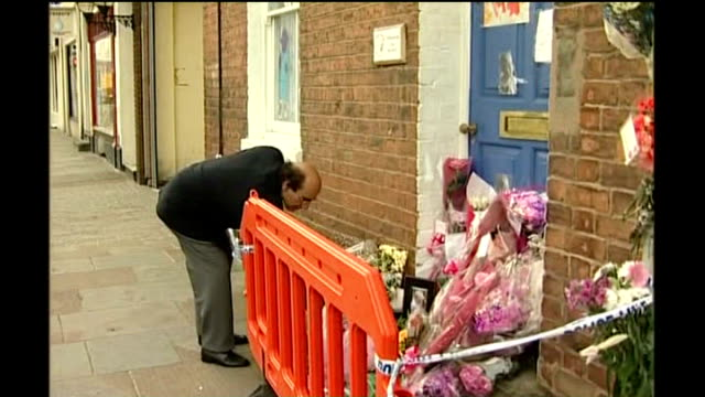 nursery owner fined for gross incompetence following death of baby in her care 2005 flowers and cards outside nursery following death of molly... - ineptitude stock videos & royalty-free footage