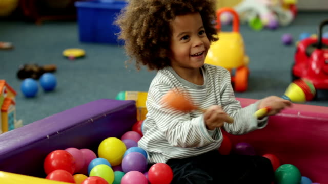 nursery playtime - nursery school child stock videos & royalty-free footage
