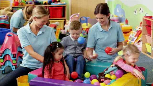 nursery playtime - child care stock videos & royalty-free footage