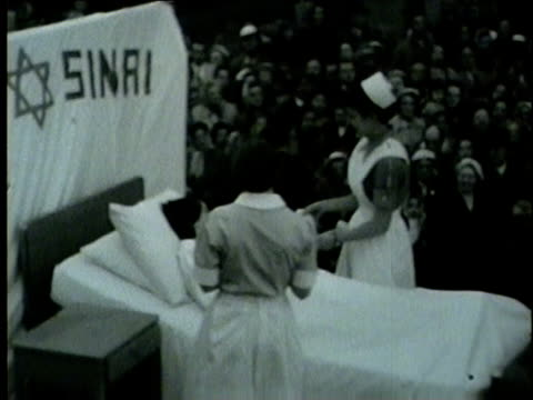 stockvideo's en b-roll-footage met nurses day parade on may 22 1954 in chicago - 1954