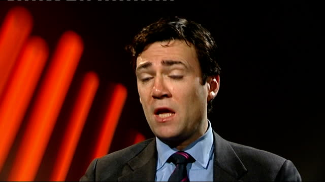 nursing unions call for government's health bill to be scrapped andy burnham mp interview sot - 2012 stock videos and b-roll footage