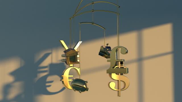 vidéos et rushes de nurturing your finances - symbole du yen