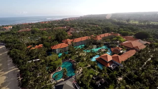 Nusa Dua Beach and Hotels from Above