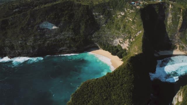 nusa penida drone - indonesia landscape stock videos & royalty-free footage