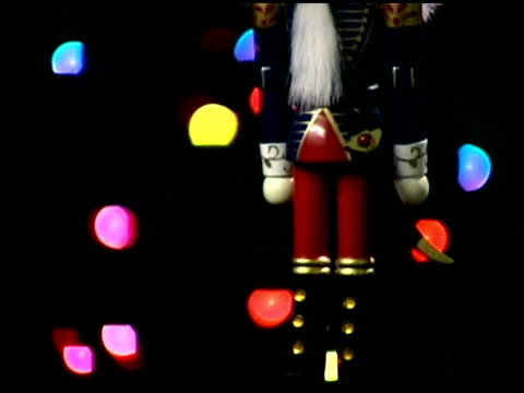 nutcracker with christmas lights - see other clips from this shoot 1407 stock videos and b-roll footage