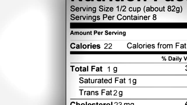 nutition facts label animation - nutrition label stock videos and b-roll footage