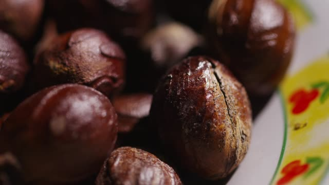 a nutmeg on the plate in banda island, maluku, indonesia - nutshell stock videos & royalty-free footage