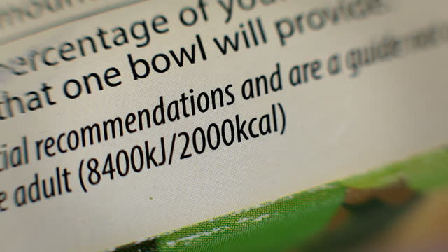 nutritional information on food packaging - the alphabet stock videos & royalty-free footage