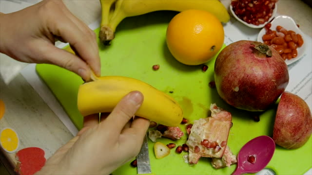 nutritionist preparing healthy food with fruits - dessert stock videos & royalty-free footage