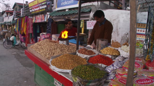 nuts, lentils and dried spice and vegetable vendor - sack stock videos & royalty-free footage