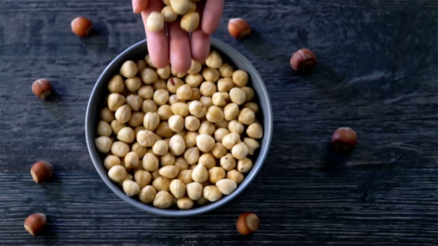 nuts slow motion - nutshell stock videos & royalty-free footage