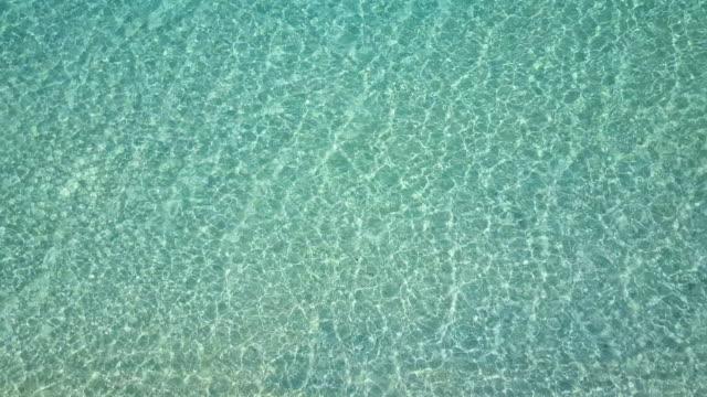 nyaung oo phee lsland. top view wave crystal water. - crystal stock videos & royalty-free footage