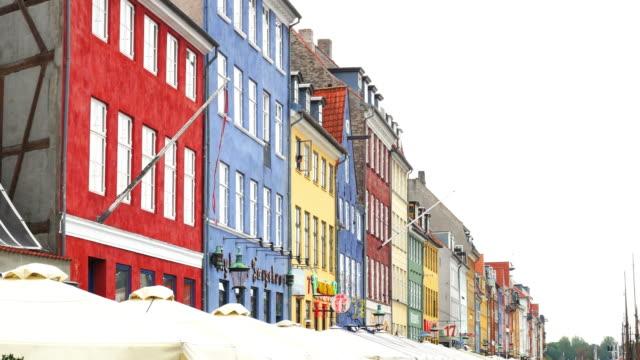 nyhavn, copenhagen, denmark - famous tourist place in scandinavia - oresund region stock videos & royalty-free footage
