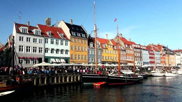 nyhavn - copenhagen - copenhagen stock videos and b-roll footage