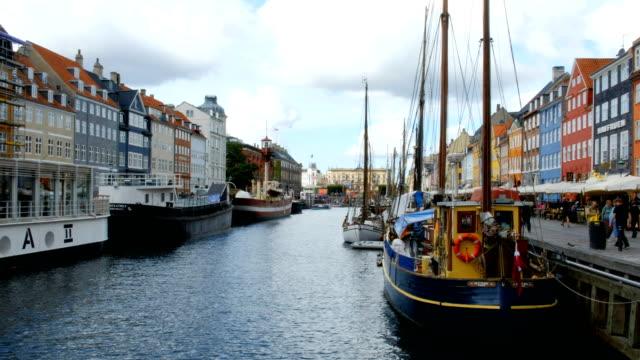nyhavn harbor in copenhagen - oresund region stock videos & royalty-free footage