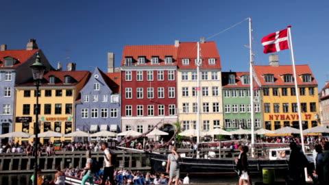 nyhavn - copenhagen stock videos & royalty-free footage