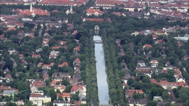 Nymphenburg Palace - Aerial View - Bavaria,  Upper Bavaria,  Munich,  Urban District helicopter filming,  aerial video,  cineflex,  establishing shot,  Germany