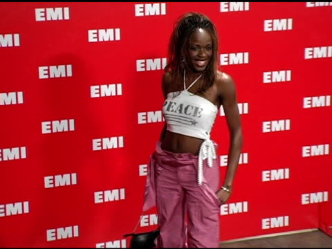 nzinga blake at the emi post-grammy awards bash at the beverly hilton in beverly hills, california on february 13, 2005. - emi grammy party stock videos & royalty-free footage
