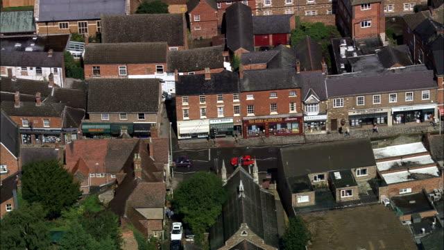 oakham  - aerial view - england, rutland, united kingdom - reservoir stock videos and b-roll footage
