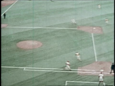 oakland athletics winning the game and celebrating on the field / united states - 1972 stock videos and b-roll footage