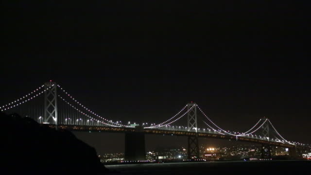 oakland bay bridge - san francisco oakland bay bridge stock videos and b-roll footage