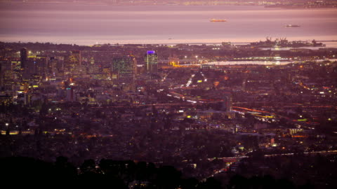 oakland, california - traffic time lapse stock videos & royalty-free footage