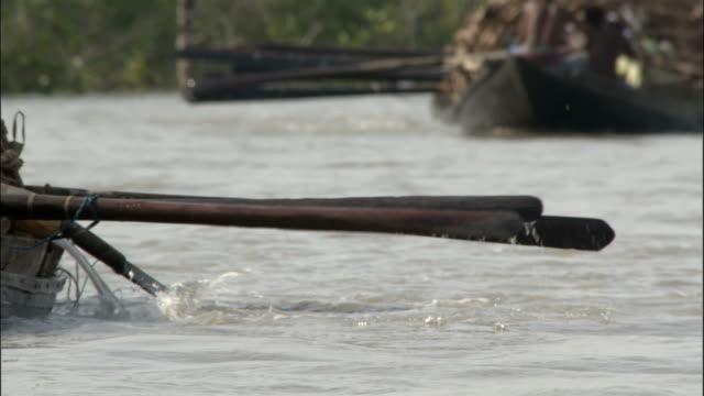 oars rowing available in hd. - oar stock videos & royalty-free footage