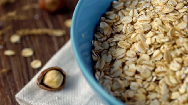 oat flakes, slow motion - north africa stock videos & royalty-free footage