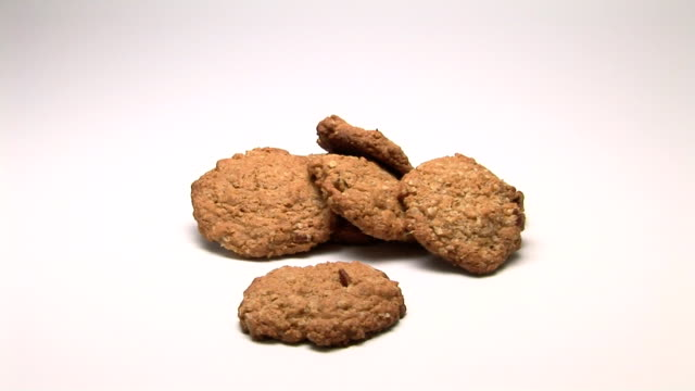 oatmeal cookies - five objects stock videos & royalty-free footage
