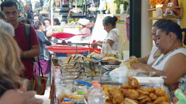 oaxaca, mexico local food market - mexico stock videos & royalty-free footage