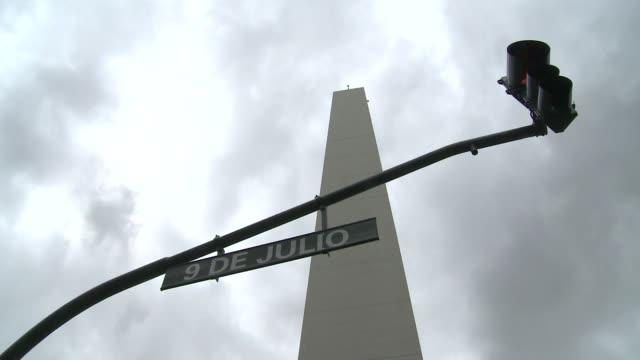 obelisk in buenos aires - informationsskylt bildbanksvideor och videomaterial från bakom kulisserna
