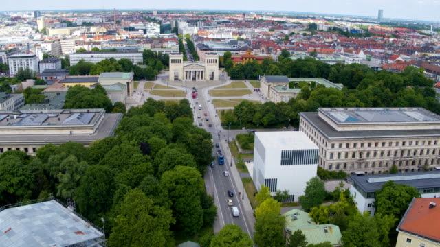 obelisk, karolinen square, munich - antiquities stock videos and b-roll footage