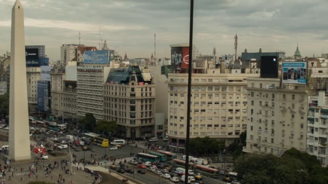 pan obelisk of buenos aires shot on the 29th of july 2014 - obelisk stock videos & royalty-free footage