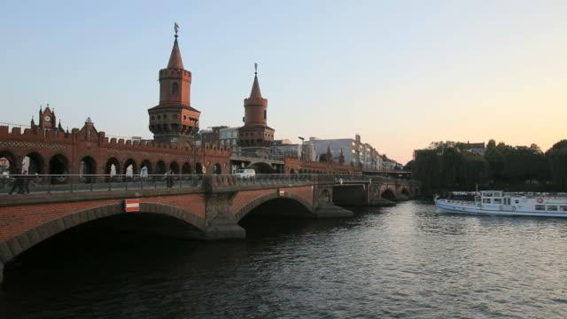 Oberbaum Bridge on River Spree,  Berlin, Warschauer Straße
