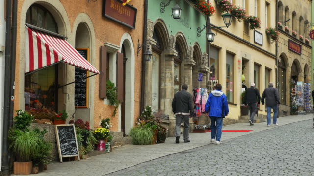 obere schmiedgasse in rothenburg - romantic road germany stock videos and b-roll footage