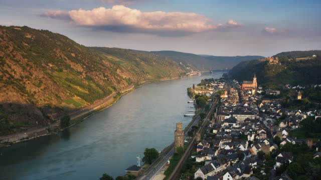 oberwesel - rhein stock-videos und b-roll-filmmaterial
