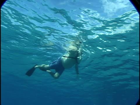 obese mann schwimmen - getönt stock-videos und b-roll-filmmaterial