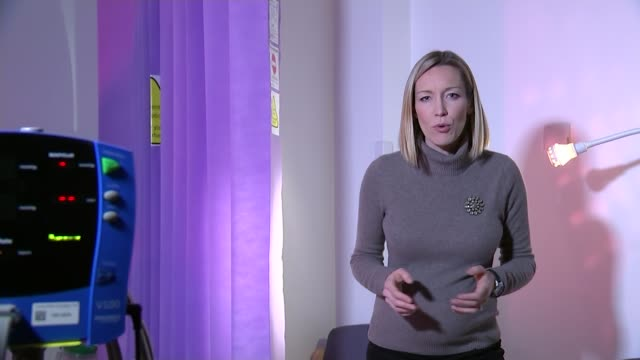 obesity crisis for middle aged women reporter to camera/ close shot of digital readout on blood pressure monitor/ tam fry interview sot/ various... - tam bildbanksvideor och videomaterial från bakom kulisserna