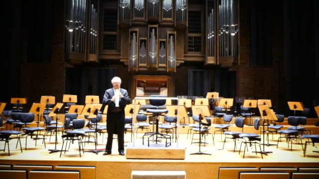 oboe player in a beautiful concert hall. - rehearsal stock videos & royalty-free footage