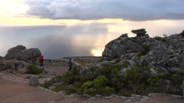 WS, Observation point on top of Table Mountain, Cape Town, South Africa