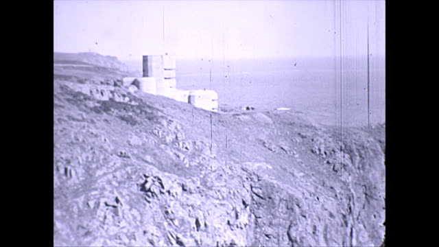 observation tower german occupation guernsey - kanalinseln stock-videos und b-roll-filmmaterial