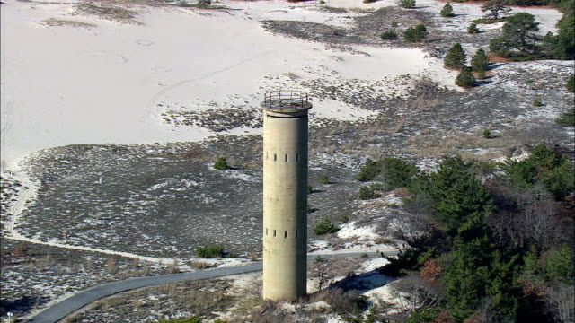 WW11 Observation Towers  - Aerial View - Delaware,  Sussex County,  United States