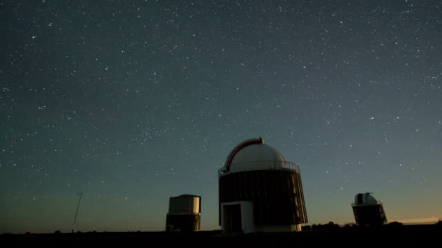 observatories with stars and moon rise - observatory stock videos & royalty-free footage