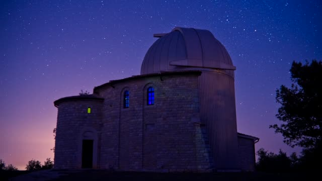 observatory in visnjan, croatia - observatorium stock-videos und b-roll-filmmaterial