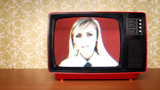 obsolete tv with bad signal - old fashioned stock videos & royalty-free footage