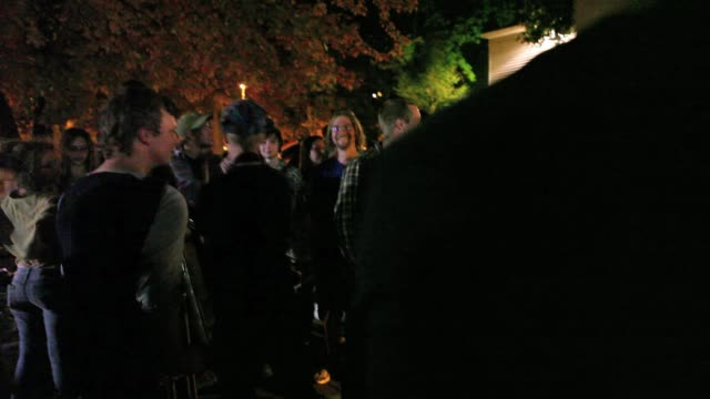 Occupy Wall Street protesters march on Kirkwood Avenue in Bloomington Indiana at the beginning of a protest that would last until January when police...