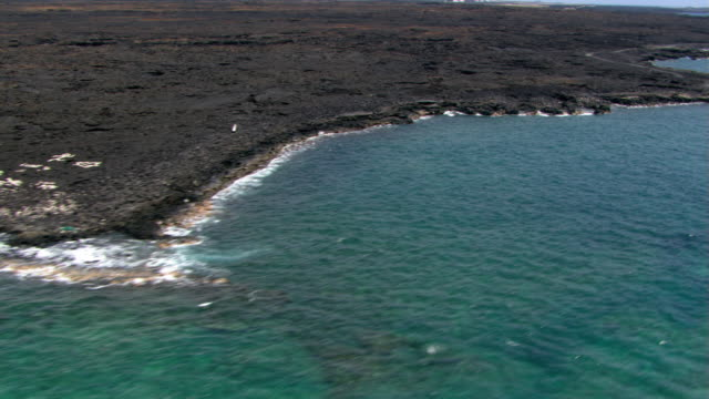 Ocean and sloped lava beds