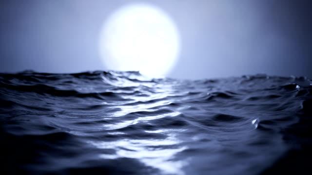 Ocean at moonlight