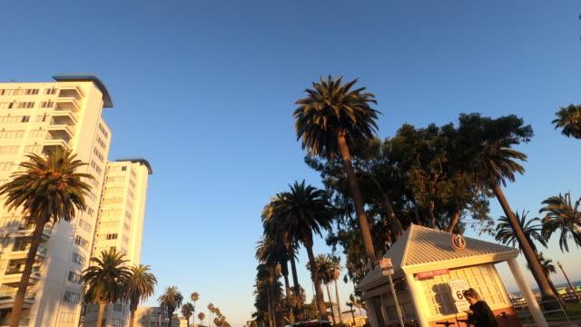 ocean avenue, santa monica - ocean avenue stock videos & royalty-free footage