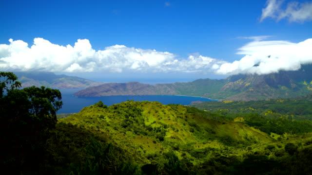 vídeos de stock e filmes b-roll de ocean bay exotic location a polynesian paradise marquesas - remote location